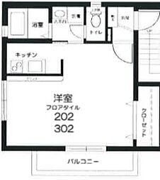 東京都新宿区市谷甲良町の賃貸マンションの間取り