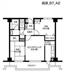 メルベーユ武蔵新城[404号室]の間取り
