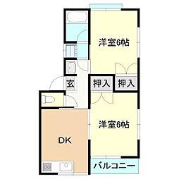 メゾンドケイI・II[2階]の間取り