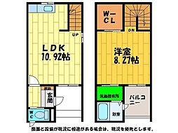 [テラスハウス] 徳島県徳島市川内町宮島浜 の賃貸【/】の間取り