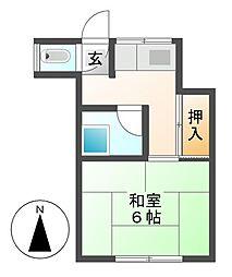 岩塚荘[2階]の間取り