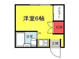 大阪府堺市堺区南旅篭町西1丁の賃貸マンションの間取り