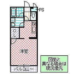 H・K・24 2階ワンルームの間取り
