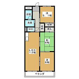 セブンスズキ[2階]の間取り