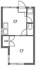 カシータ練馬A棟[2階]の間取り