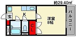 シティコートIII西鉄下大利駅前[2階]の間取り