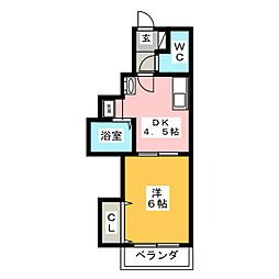 ゴールデンハイツ平針[4階]の間取り