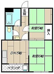 よろずやマンション[302号室]の間取り