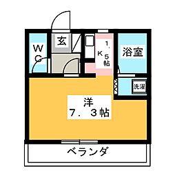 ピュアルーセント[2階]の間取り