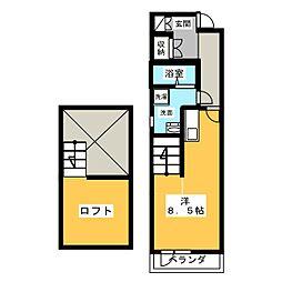 Libra神宮南[3階]の間取り