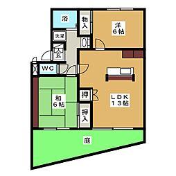 ピュアハーツ97[2階]の間取り