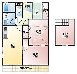 コーポカミハラ[2階]の間取り