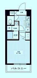 MAXIV武蔵新城 3階1Kの間取り