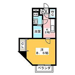 コーポ加納[2階]の間取り