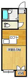 ロイヤルヒルズ桜ヶ丘[105号室]の間取り