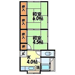 森アパート[202号室]の間取り
