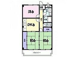 ウエストコートTANIGAMI[1階]の間取り
