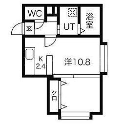 北海道札幌市豊平区旭町7丁目の賃貸マンションの間取り