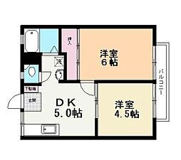 ファミール京屋誠[2階]の間取り