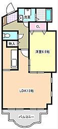 三重県四日市市まきの木台2丁目の賃貸マンションの間取り