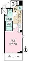 東京都新宿区下落合4丁目の賃貸マンションの間取り