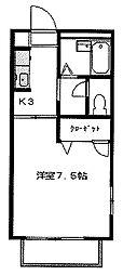 宮城県仙台市若林区土樋の賃貸アパートの間取り