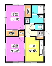 長谷川ハイツ[2階]の間取り