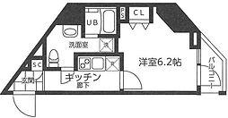 横浜市営地下鉄ブルーライン 吉野町駅 徒歩3分の賃貸マンション 9階1Kの間取り