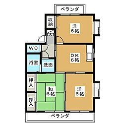 ア・ドリームKawasaki[3階]の間取り