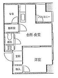 神奈川県横浜市中区本牧町1丁目の賃貸マンションの間取り