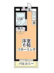 バンベールマンション[2-C号室]の間取り