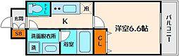 アリビオ江坂垂水町[4階]の間取り