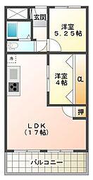 メゾン舞子ショアー[6階]の間取り