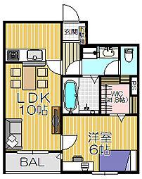 ペット共生型賃貸マンション・Fluffy[103号室]の間取り