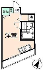 プチコート高幡[201号室]の間取り