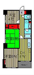 メゾン奥ノ木[4階]の間取り