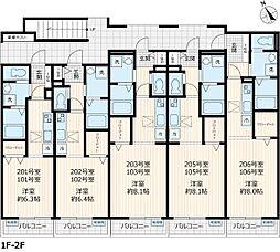 La Sua Casa.H 2階ワンルームの間取り