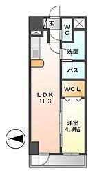 フォレシティ栄[7階]の間取り