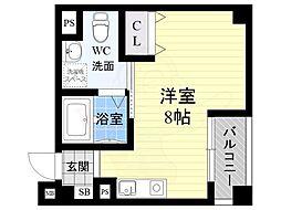 オリエントシティ・K 3階ワンルームの間取り