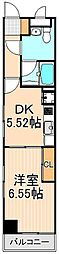 東京都台東区下谷1丁目の賃貸マンションの間取り