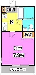 東京都練馬区石神井台2丁目の賃貸アパートの間取り