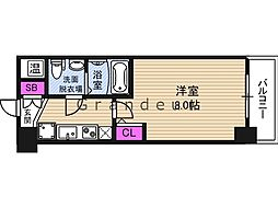 NO77 HANATEN 001 13階1Kの間取り