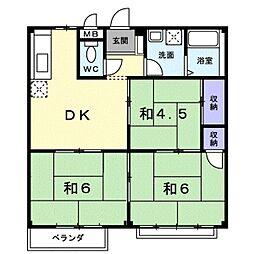エルディム立田C[2階]の間取り