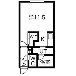 Reussir N6W11[4階]の間取り