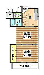シャトレ折尾[3階]の間取り