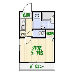 レジデンス・カメアリ[0201号室]の間取り