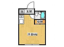 神奈川県川崎市多摩区東三田1丁目の賃貸アパートの間取り