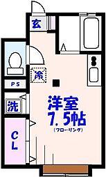 Casa25(カーサ25)[203号室]の間取り