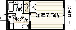 広島県広島市西区三篠町2丁目の賃貸マンションの間取り