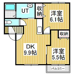 クローバーハウスNo.7[1階]の間取り
